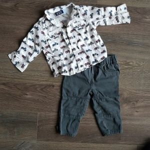 The Children's place shirt and jeans for baby boys